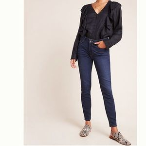 PAIGE/ Hoxton ankle skinny jeans dark wash